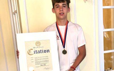 Winston Oddo Awarded High School Scholarship
